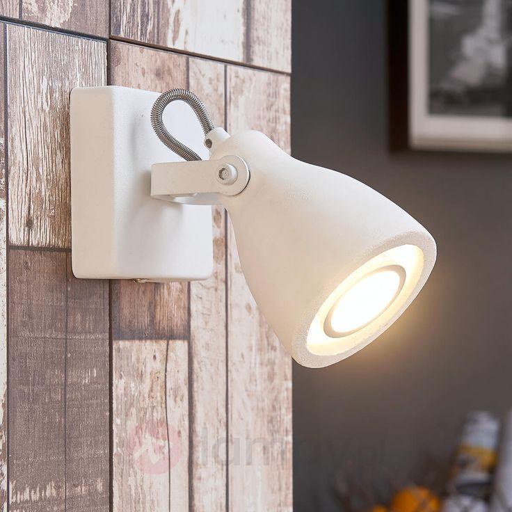 Biały spot LED Kadiga z betonu 9621088