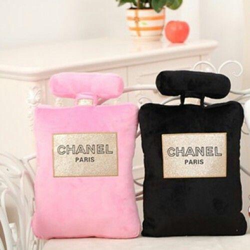 Chanel perfume pillows