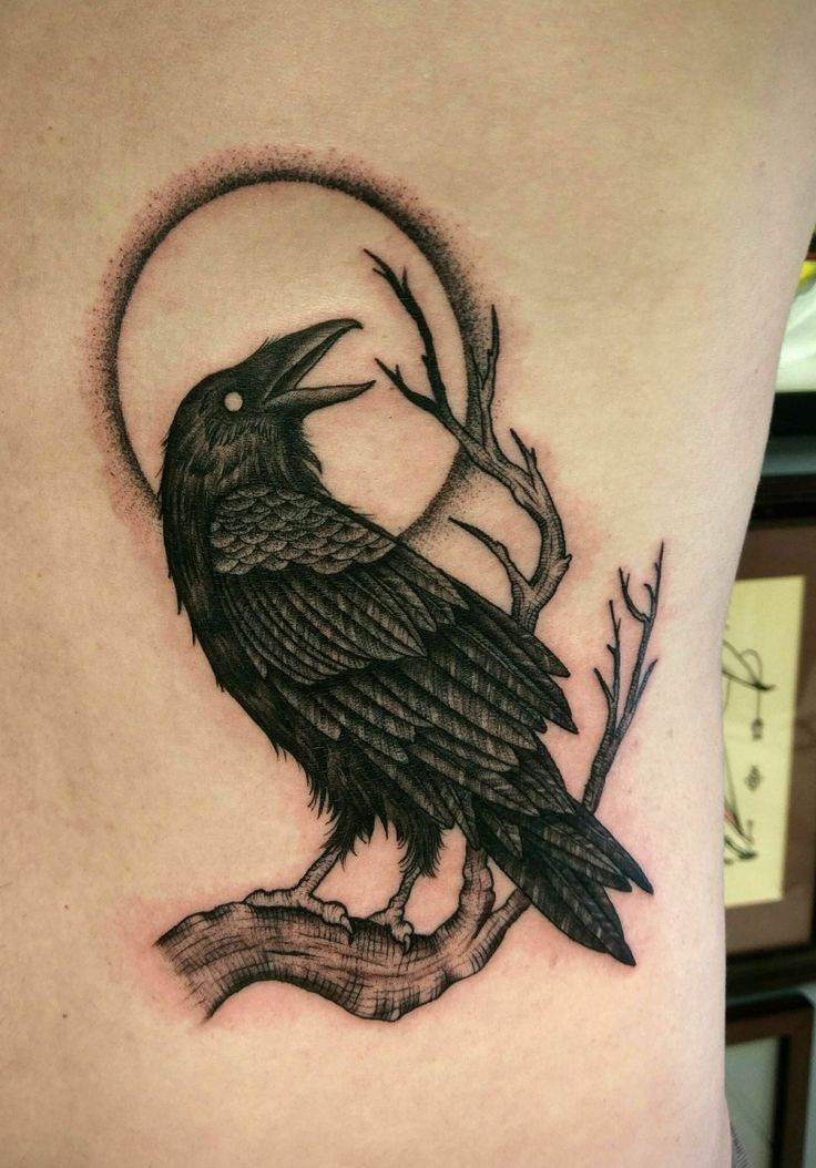 Raven tattoo done by Shane Olds at Rise Above in Orlando, Fl