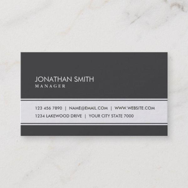 Professional Elegant Plain Simple Black And White Business Card Zazzle Com White Business Card Business Cards Simple Painter Business Card