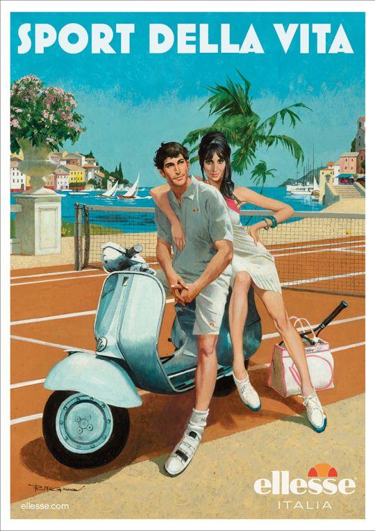 Sport Della Vita: Mcginnis Art, Vintage Posters, Sooo Italian, Picture-Black Posters, Of Life, Italiansumm Art, Robert Mcginnis, Sports Della, Vintage Italian Posters