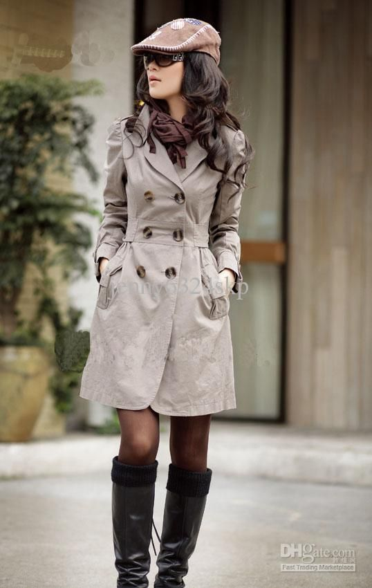 Wholesale Trench Coat - 2013 Autumn New Fashion Women's Slim Fit Military Trench Coat, $19.89 | DHgate