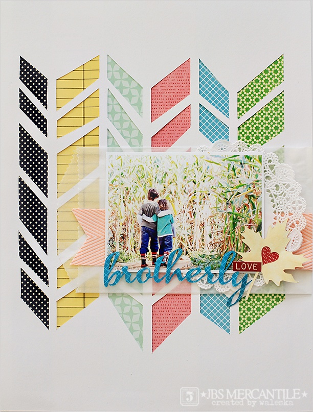 waleska: jbs mercantile: Scrapbook Ideas, Chevron Stencil, Paper Envelopes, Chunky Chevron, Photo Frames, Scrapbook Layout, Cool Photo, Neon Color, Jbs Mercantil