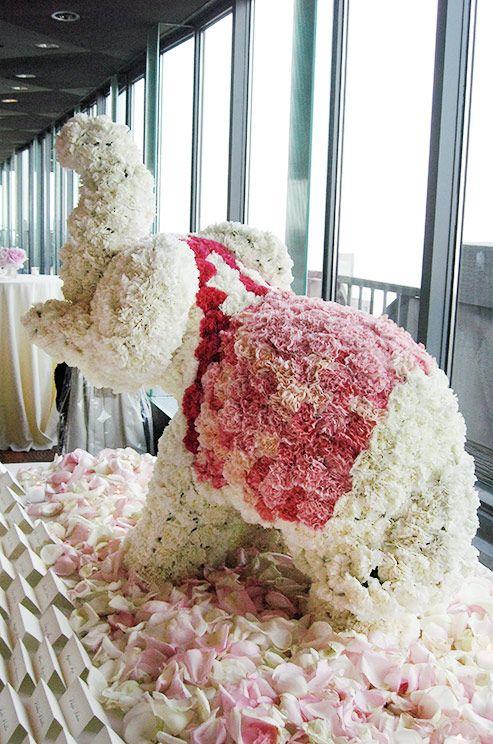 Elephant floral centerpiece