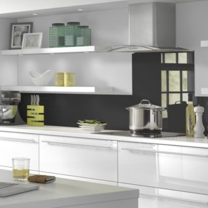 Vistelle Kitchen Splashback 760 x 700 x 4mm Black, 5055341708837