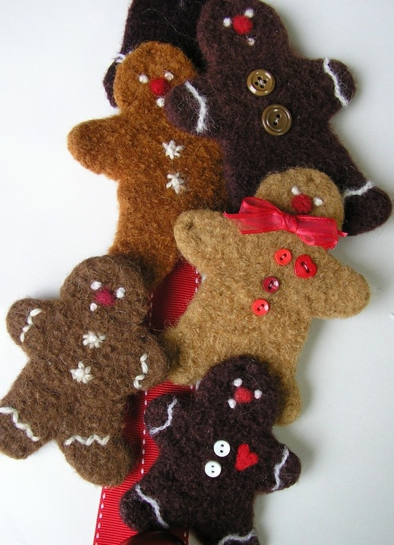 felted gingerbread