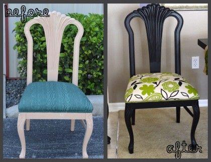 Trash to treasure Reupholstered chair