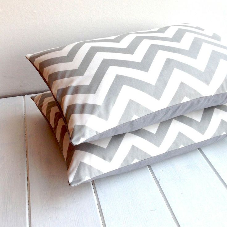 grey chevron cushion
