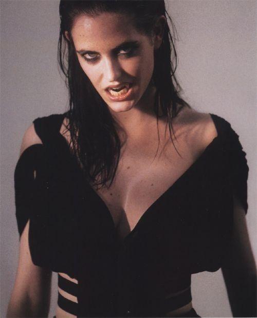 Eva Green vamping it up.