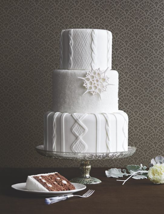 Cable Knit Cake