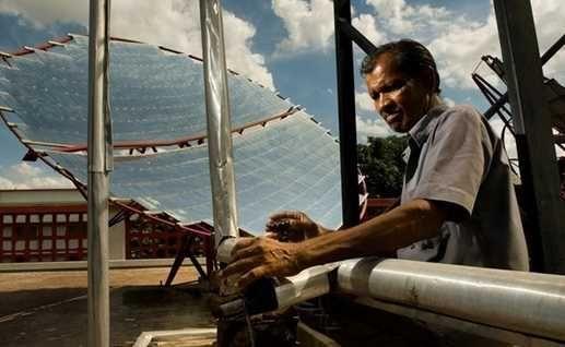 pojet solaire aliment hopital en inde