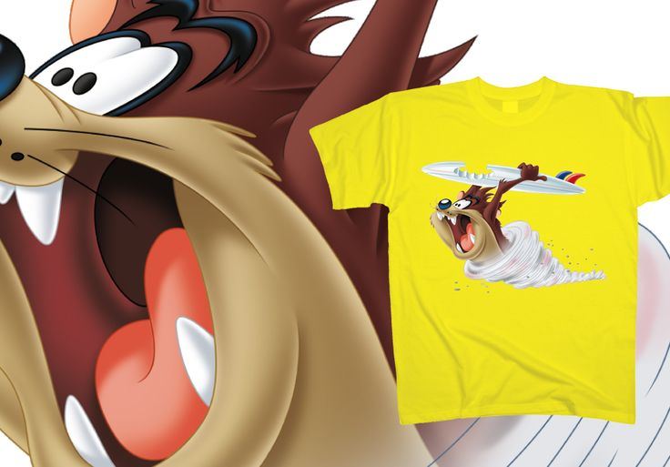 Why is the beach trembling? Is it a whirlwind or maybe an earthquake? No, it's just #Taz, rushing (as usual) to get into the sea! Catch up with him and get his #tshirt for €15, at http://www.toonshirts.com/products/looney-tunes/124-taz-tornado-surfing