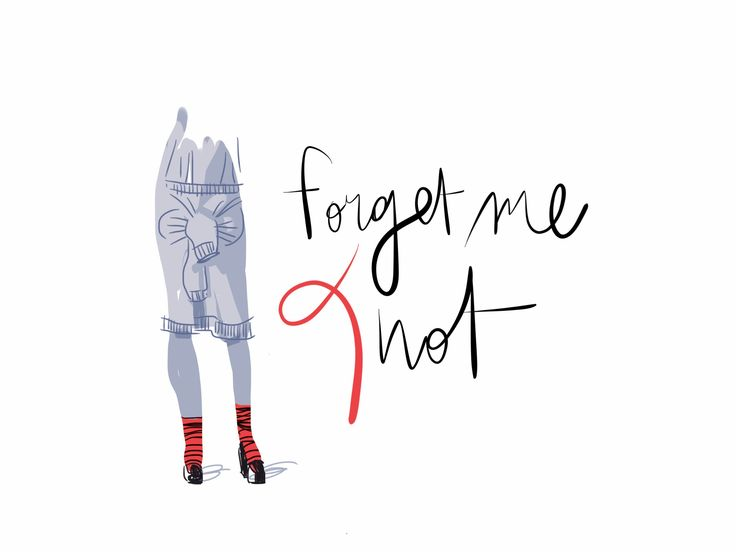 Forget me Knot / Open Toe, fashion illustrated / Opentoeillustration.com