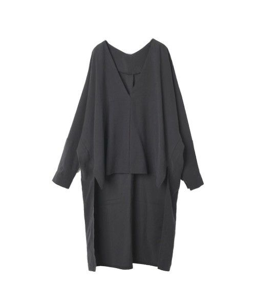 marjour(マージュール)のVneck tail shirts(シャツ/ブラウス) ブラック