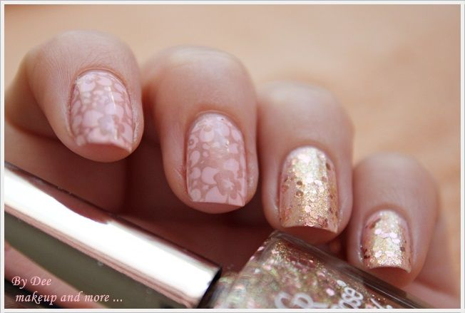 NOTD: Glitter, flowers and pastels ~ By Dee make-up and more