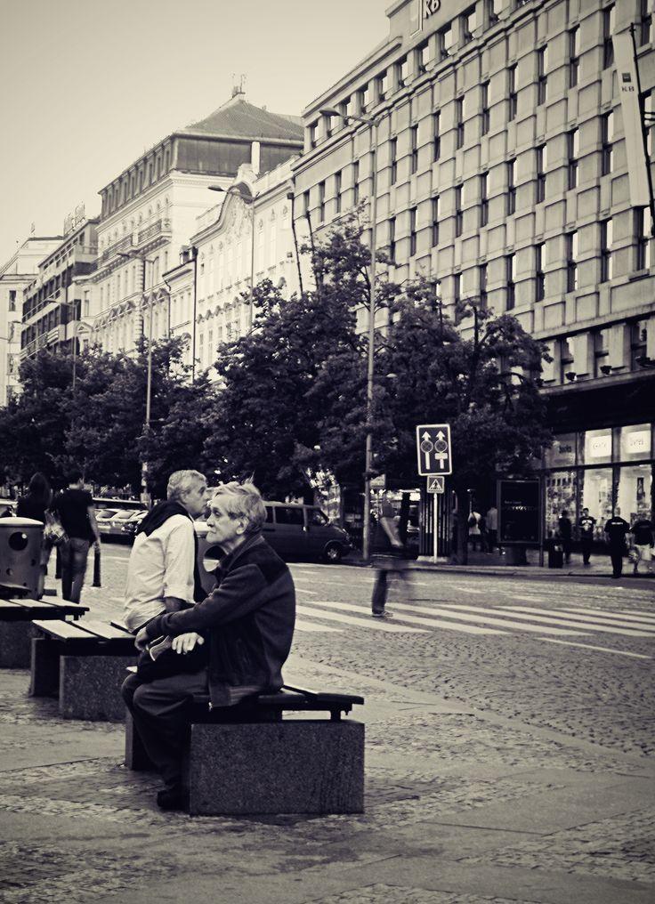 #people #Prague #Wenceslassquare