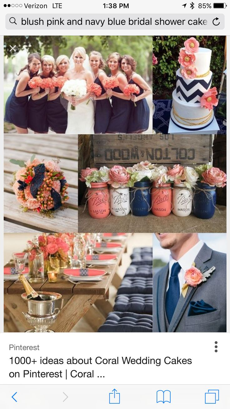 bridal shower gift ideas for bride philippines%0A Wedding Philippines  Weddings by Color  Navy Blue Coral Wedding Ideas