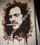 Lemmy pen and ink illustration