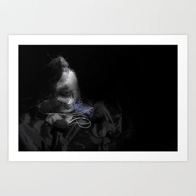 A lonely puppet Art Print by Oscar Tello Muñoz - $19.00