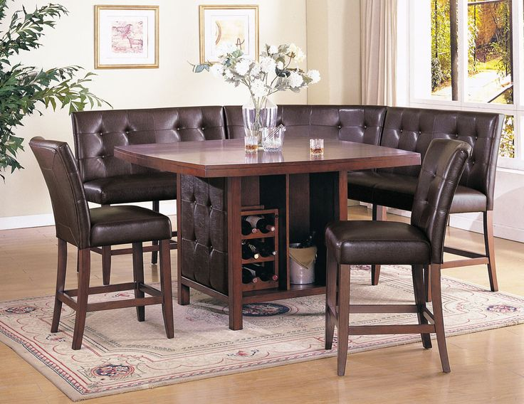 Marvelous Acme Britney 6 Pc Counter Height Dining Table Set In Brown By Dining Rooms  Outlet Idea