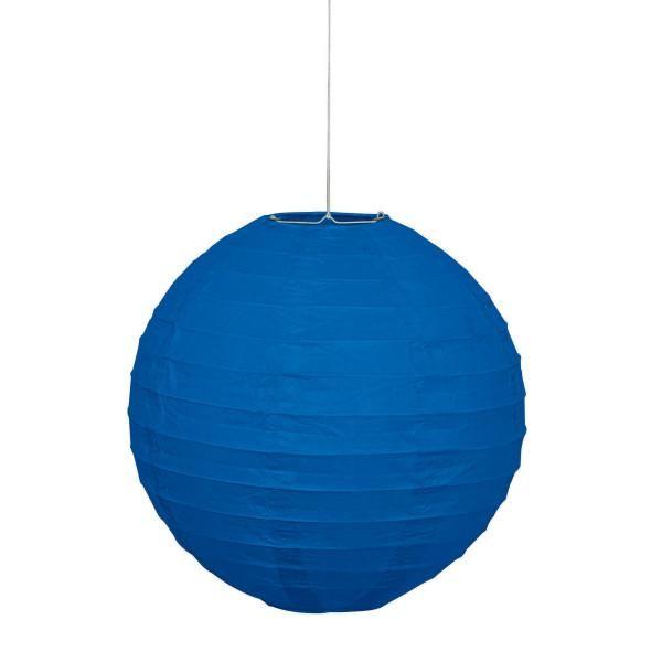 10 Large Paper Lantern Blue Decorations 1 Ct Marketcol