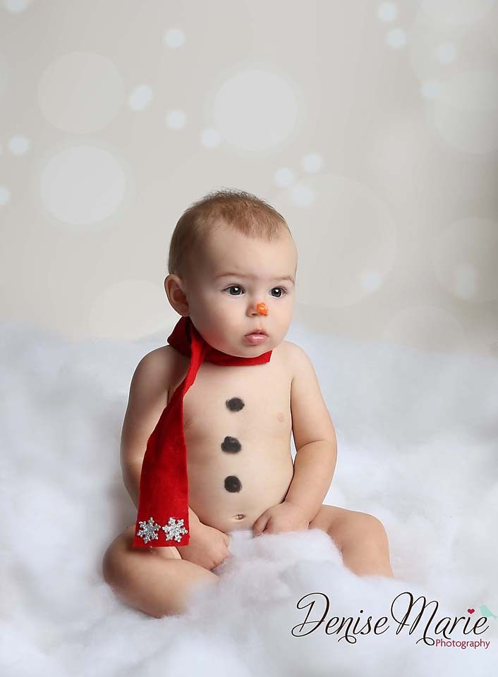 Snowman baby pic/adorable/Portfolio - Tampa photographer /DeniseMariePhotography