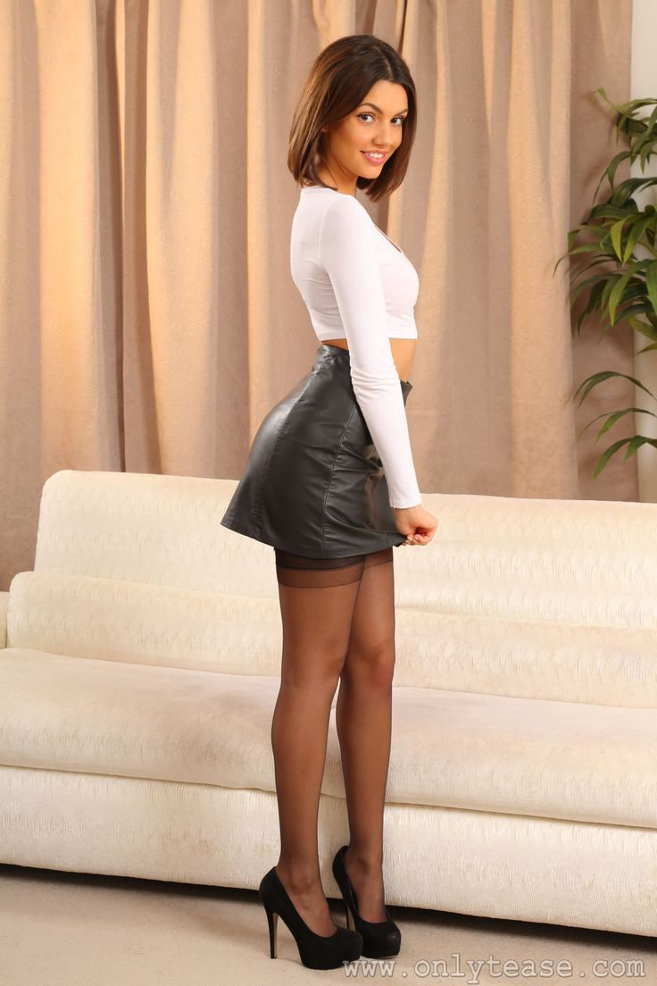 from Brian short skirt and stockings xxx