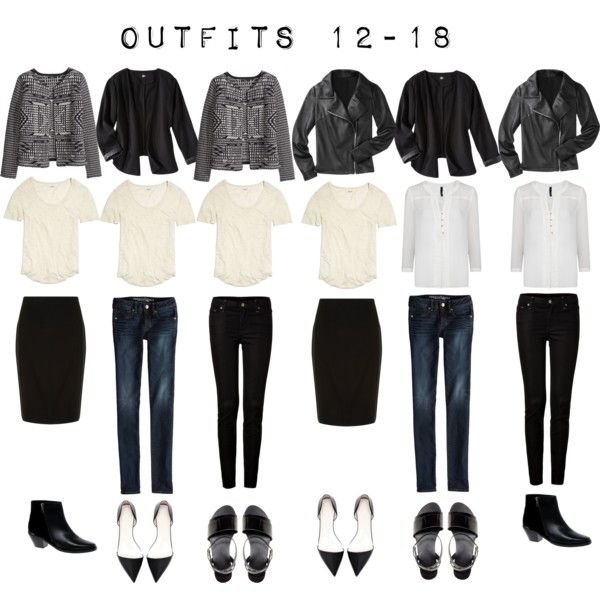 """Outfits 12-18 from the 5 Item French Wardrobe"" by designismymuse on Polyvore"