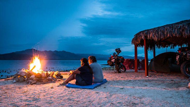 Baja California summer evenings camping