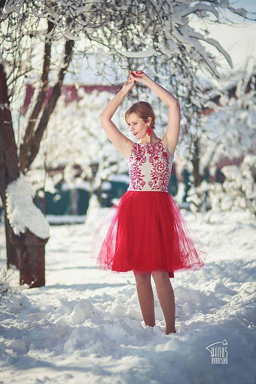 ZuzanaZachar / Šaty s tylovou sukničkou maľované...