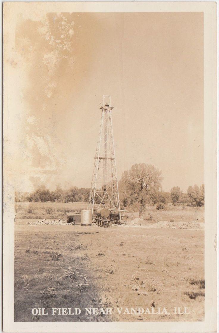Illinois vermilion county armstrong - Illinois Il Real Photo Rppc Postcard C1930s Vandalia Oil Field Derrick Well Ebay