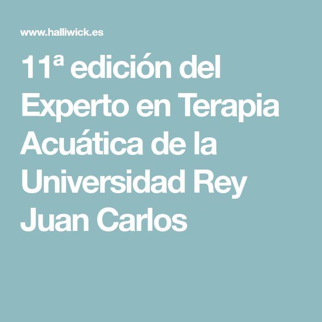 11ª edición del Experto en Terapia Acuática de la Universidad Rey Juan Carlos