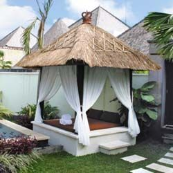 Bali gazebo - The Balinese style gazebo brings a touch of resort living in your home.