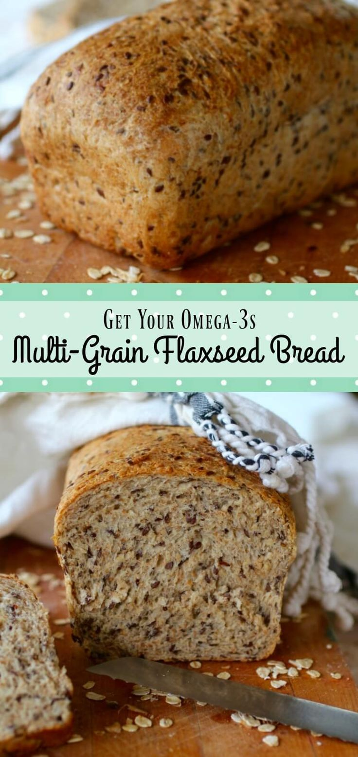 Made with 7 Grain cereal, this homemade multi-grain flaxseed bread is healthy and delicious. from RestlessChipotle.com