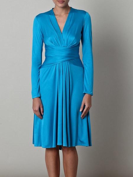 ISSA Longsleeve Tiedwaist Dress