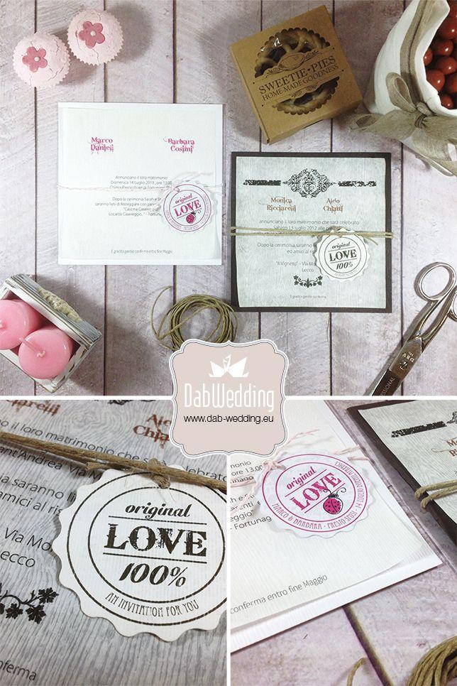 """Partecipazione nozze """"Savanna"""" - www.dab-wedding.eu"""