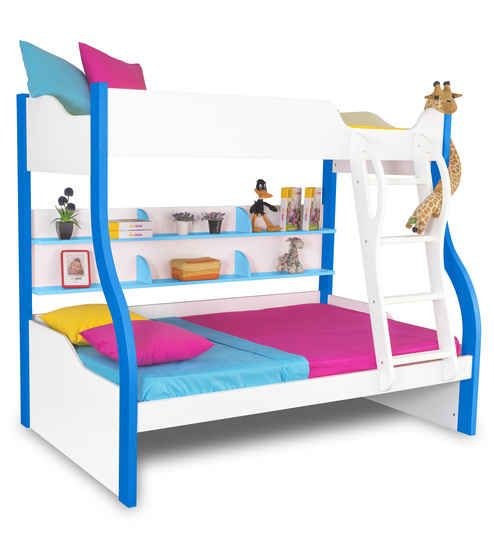 Bunk beds for kids are a great way to save space in a room especially if you have two children who love their own sleeping space. These bunk beds make space for kids to play and have a good time. Choose from a variety of kid's bed online at Pepperfry.com.