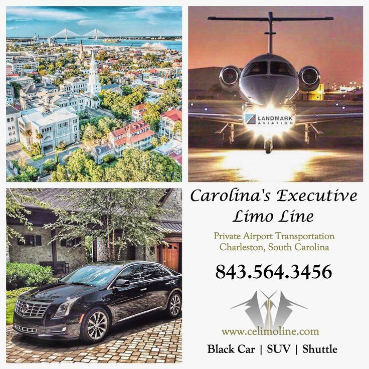 Charleston Private Airport Black Car Service from Landmark Aviation in the Cadillac Sedan. Carolina's Executive Limo Line. 843.564.3456  http://www.celimoline.com/charleston-airport-car-service