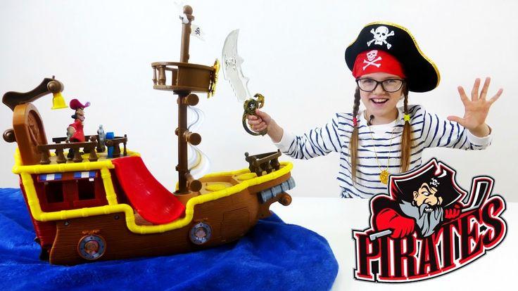 Юля и Капитан КРЮК! Пираты Нетландии мультик из игрушек. Игры для девоче...