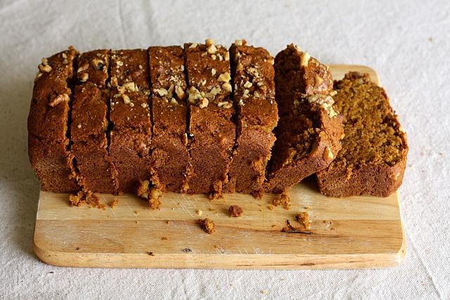 Vegan Pumpkin Walnut Bread.  Thank you Joy the baker #breakfast