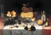 Still Life With CheesesStill-Life with Cheeses c. 1615  by Floris Claesz Van Dijck