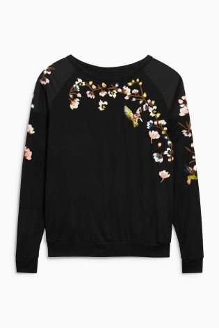 Buy Black Floral Embroidered Top from the Next UK online shop