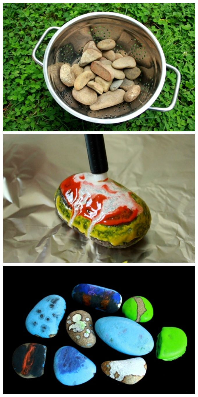 Melted crayon rocks are THE BEST! Such a fun art activity and so beautiful! Have you tried it with your kids yet?