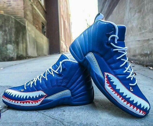 8a0c8616 Blue Jordan 11 x Bape Customize   Jordans in 2019   Blue jordans, Shoes,  Jordans