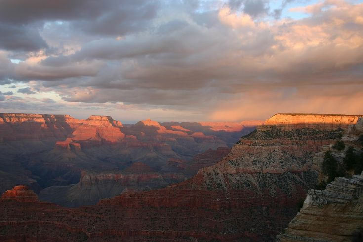 Гранд Каньон, Закат, Парк, Пейзаж, Путешествия, Аризона