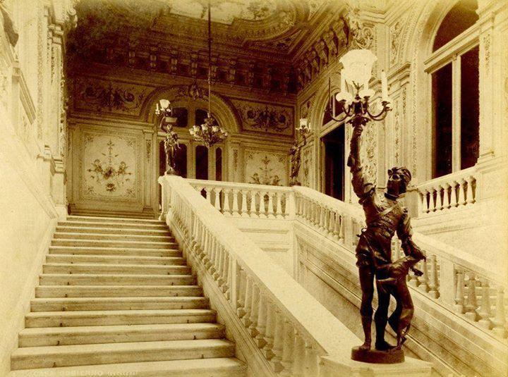 Escalera Italia de la Casa Rosada, 1910.