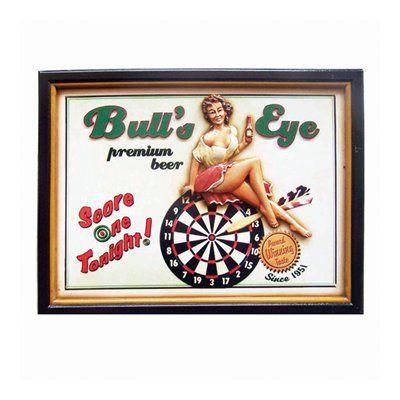 RAM Game Room R218 Bulls Eye Sign Framed Art