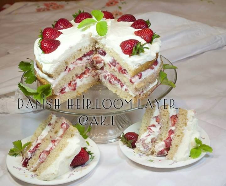 A light, moist cake perfect for any occasion! Easy to make and a delicious cake for summer, with strawberries and whipped cream!