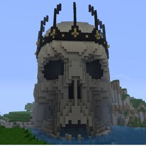 Demon Skull Castle Minecraft Minecraft Pinterest