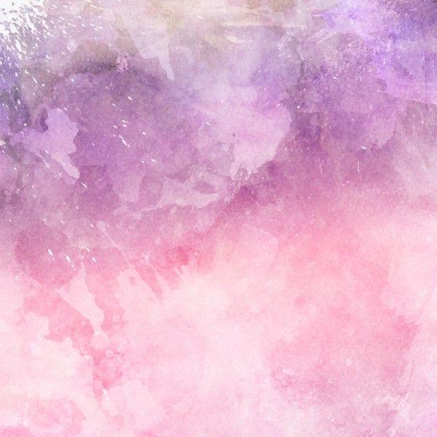 Fundo decorativo da aguarela em tons de rosa e roxo Vetor grátis